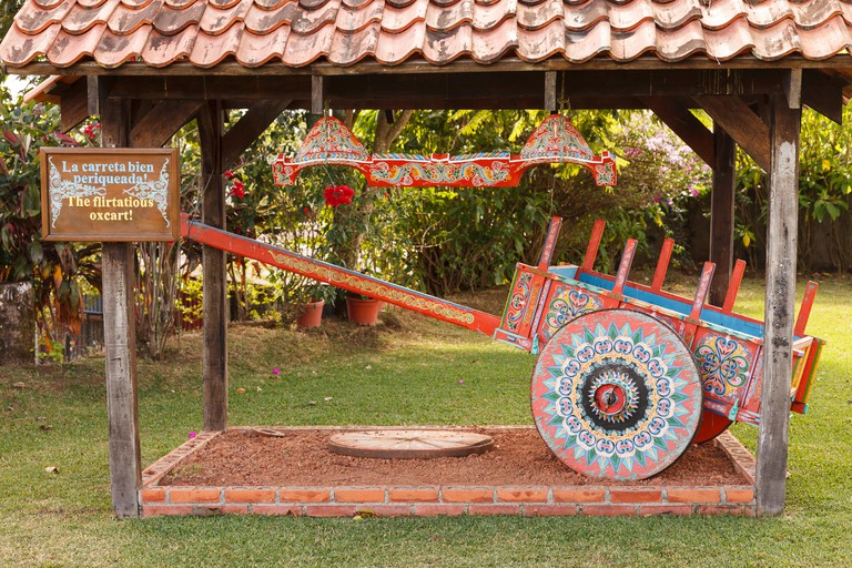 The crafts town of Sarchi famous for its decorative painting and ox carts , Central Highlands, Costa Rica