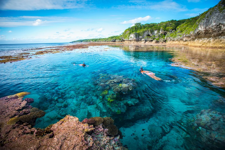 Niue Island's rugged coastline; Niue