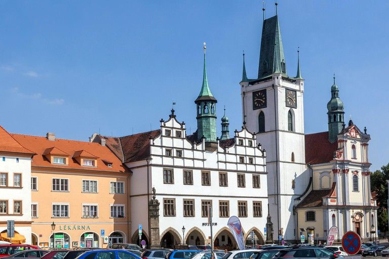 Litomerice Czech Republic The former town hall on the main square, Northern Bohemia