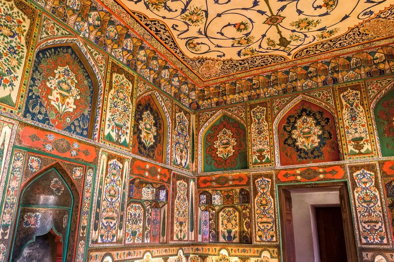 Interior, UNESCO Royal Summer Palace of Sheki (Shaki, Seki) Khan aka Palace of Shaki Khans, Azerbaijan