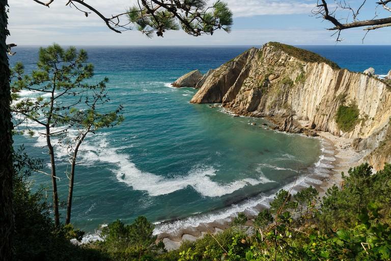 Playa del Silencio. Cudillero. Cantabrian Sea. Asturias provence. Spain. Europe