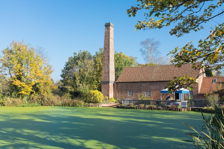 The lake at Sarehole Mill in Hall Green Birmingham which is a Grade 2 listed water mill and is now a museum