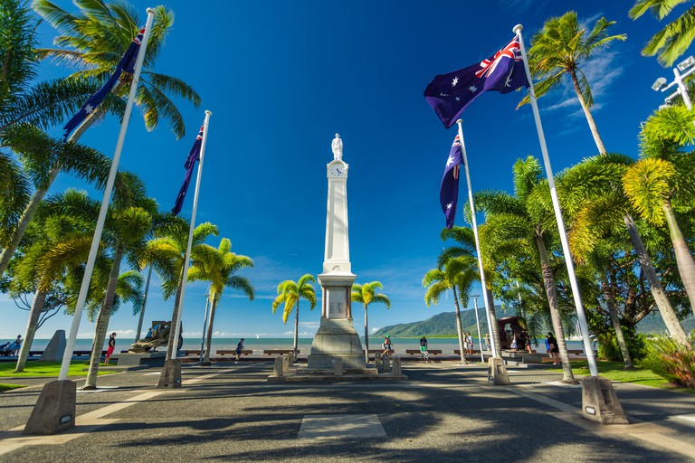 CAIRNS, AUS - JUN 22 2014: Cairns Cenotaph and Memorial site. It is a place of cultural and historic significance for the Cairns