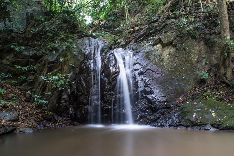 The 3 tiered PranBuri Waterfall in Kaeng Krachan National Park.