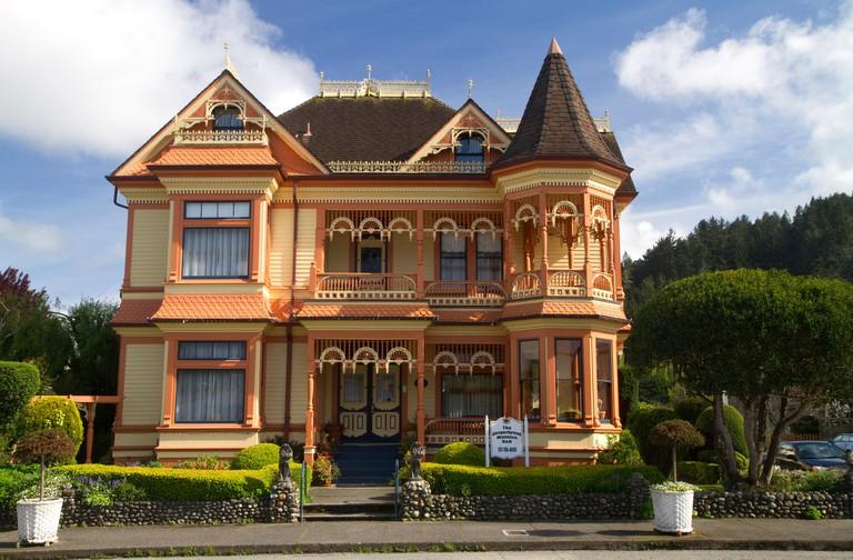 Victorian architecture home at Ferndale, California, USA.