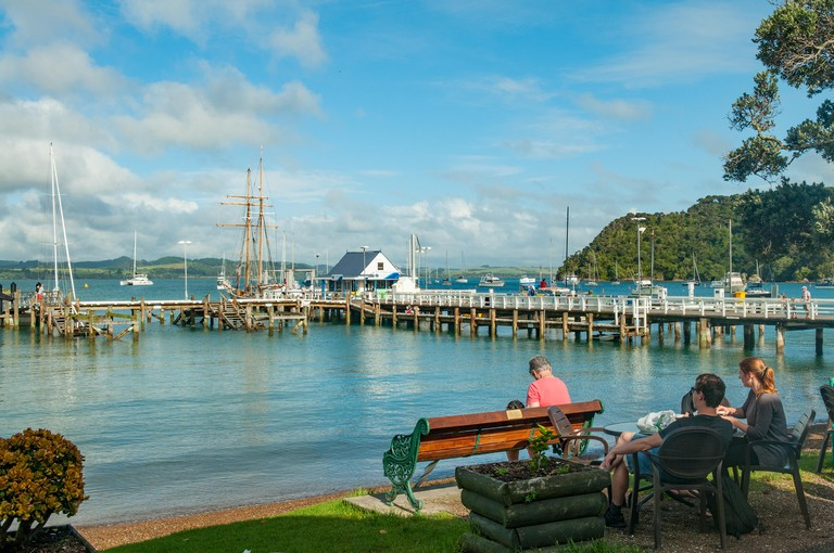 Waterfront at Russell, Bay of Islands, New Zealand