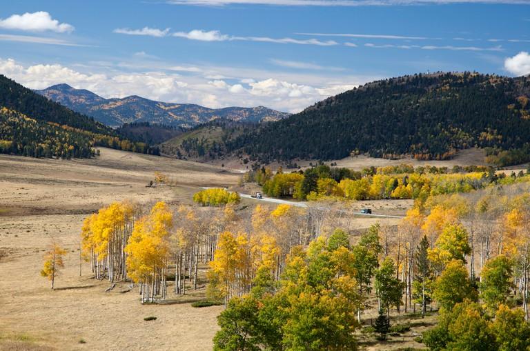Fort Garland, Colorado - The San Luis Valley, from La Veta Pass in the Sangre de Cristo mountain range.