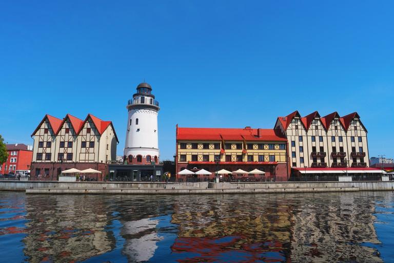 The historic city center of Kaliningrad, Fishing Village, Russia