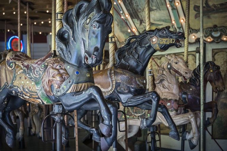 Los Angeles, California, USA. 14th Sep, 2014. An antique carousel operates daily in Griffith Park, adjacent to the Old Zoo location. © Fred Hoerr/ZUMA Wire/Alamy Live News