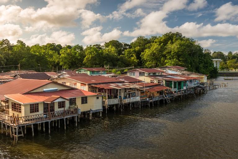 The river village of Kampong Ayer in Bandar Seri Begawan, Brunei.