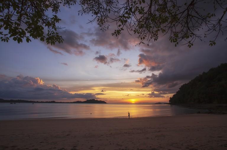 Seascape of Kwang Peeb Bay Koh Phayam island, Ranong, Thailand.