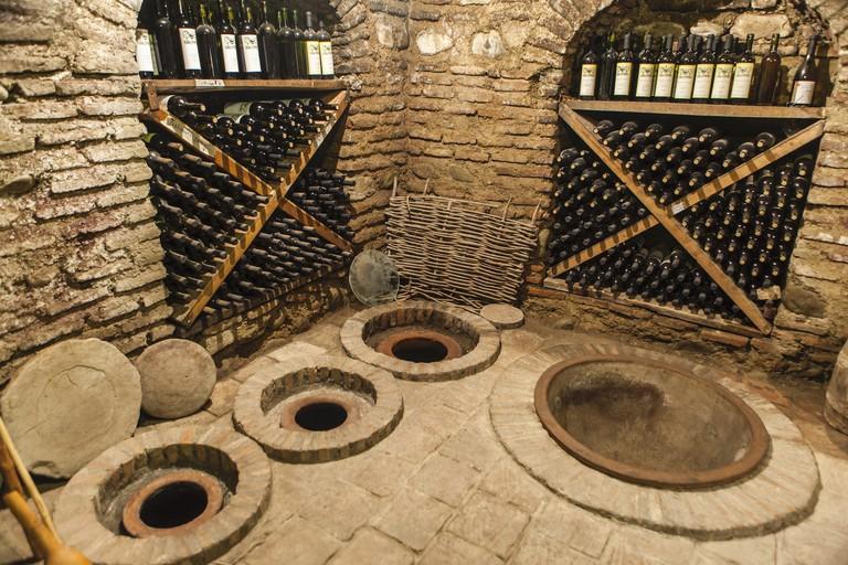"""""""Queveri"""" large clay fermentation vessels"""