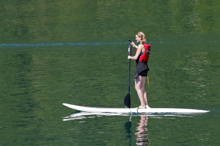 Girl on Paddleboard, Lake Idro, Italy