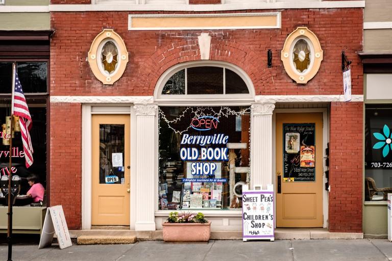 Berryville Old Book Shop, former First National Bank building, 7 East Main Street, Berryville, Virginia