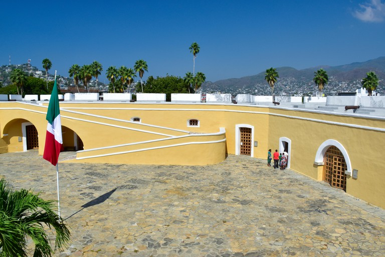 Historic Spanish fort and Museum in Acapulco, Mexico. Fort San Diego in the old part of Acapulco.