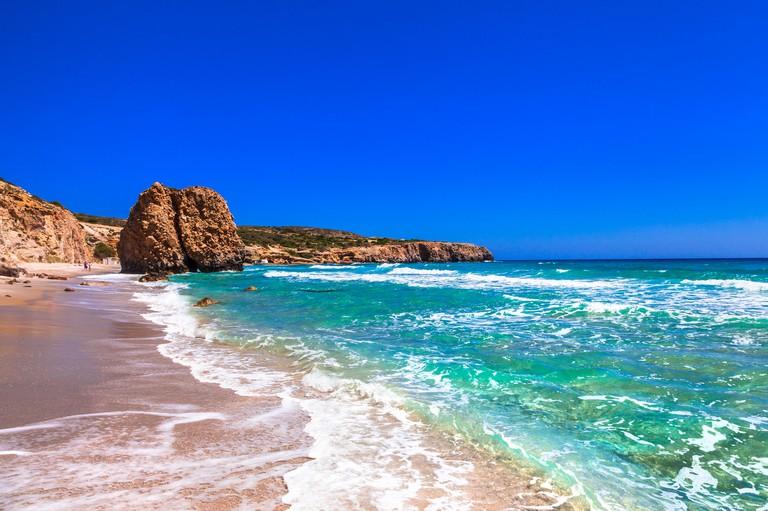 unique beautiful beaches of Milos island, Greece, Cyclades