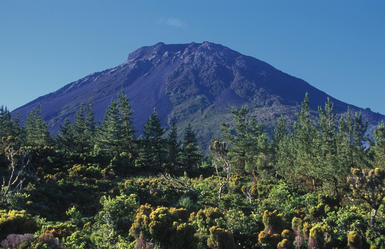 Pico Volcano Mountain. It's the highest mountain of Portugal.  Pico Island, Azores. Portugal