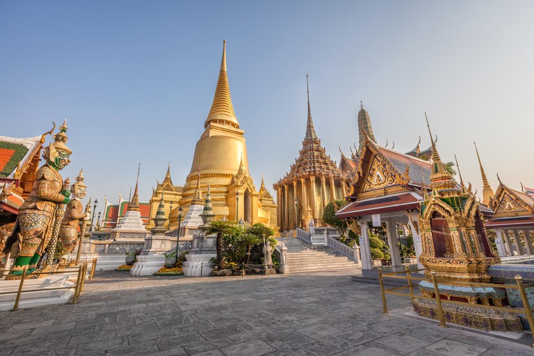 Wat Phra Kaew Temple of the Emerald Buddha inside the Grand Palace, Bangkok, Thailand