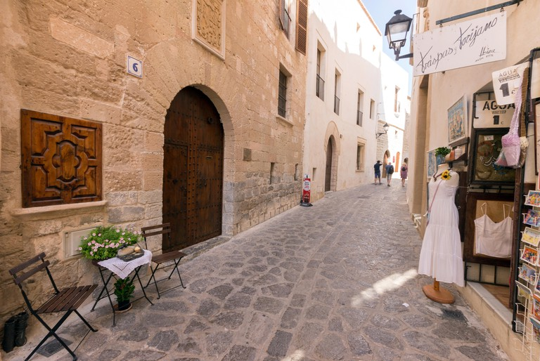 Spain, Balearic Islands, Ibiza, Eivissa, old town Dalt Vila