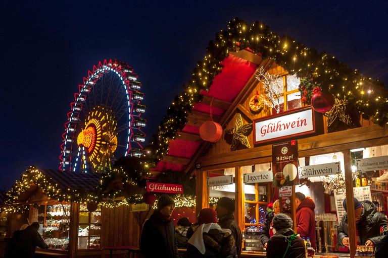 Christmas Market, Gluhwein, Alexanderplatz, Berlin, Germany