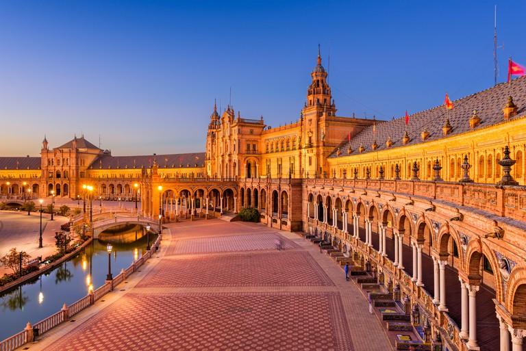 Seville, Spain at Spanish Square.
