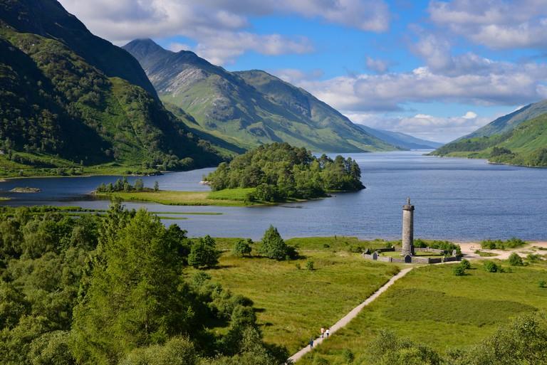Bonnie Prince Charlie monument, Loch Shiel, Scotland.