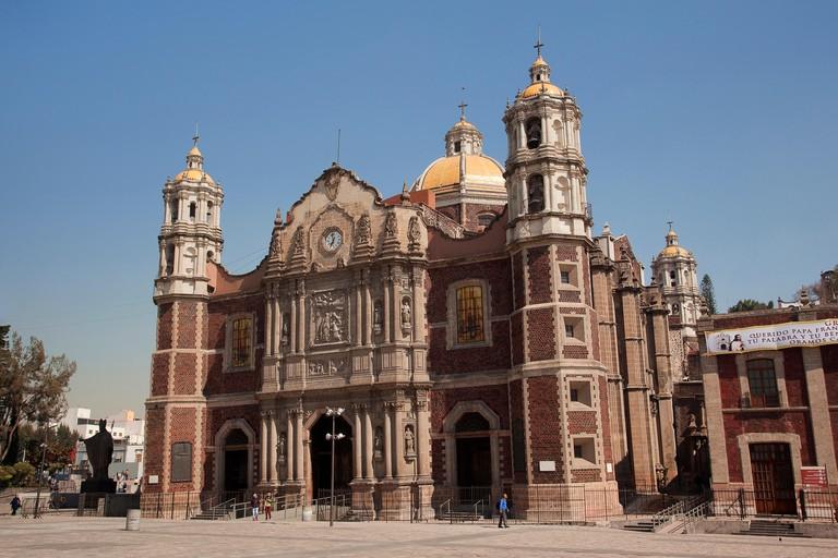 View to the Old Basilica de Santa Maria de Guadalupe, Mexico City, Mexico, Central America