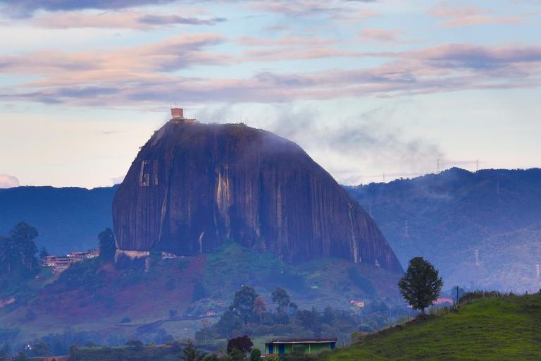 The Rock of Guatape (spanish: El Penon de Guatape) inselberg or monadnock