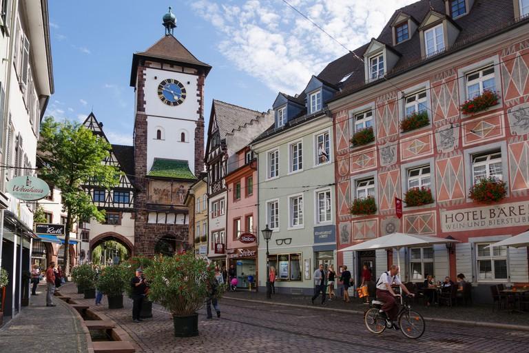 The Schwabentor or Swabian gate, Freiburg im Breisgau, Germany