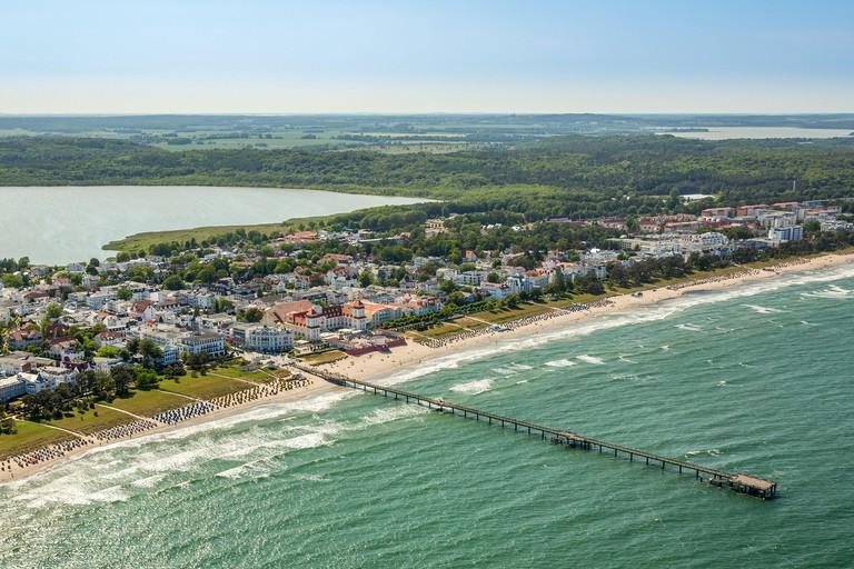 Coastline, Beach Baskets, Binz, East Coast, Western Pomerania, Mecklenburg-West Pomerania, Germany