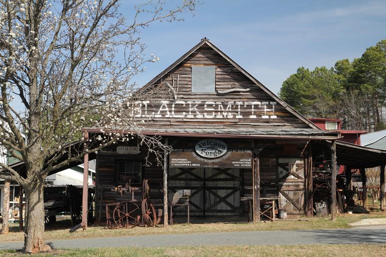 Blacksmith antique shop Hillsborough North Carolina