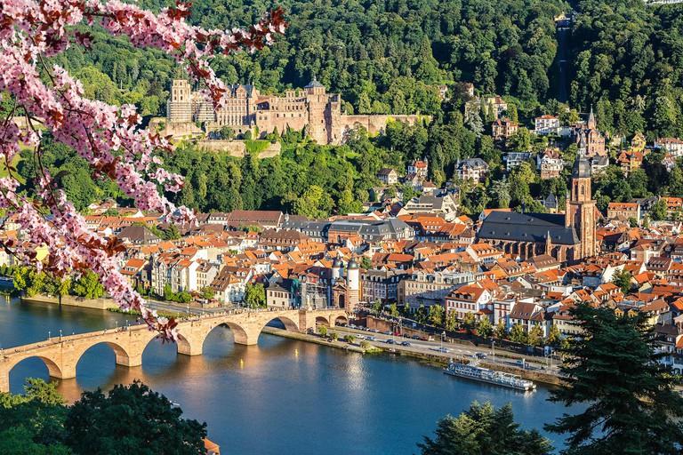 View on Heidelberg at spring, Germany