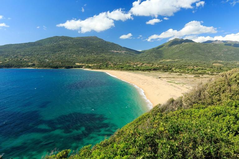 France, Corse du Sud, Propriano, beach Baracci