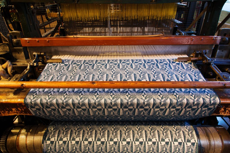 Jacquard weaving at the Dutch Textile Museum (Textielmuseum) at Tilburg in the Netherlands.