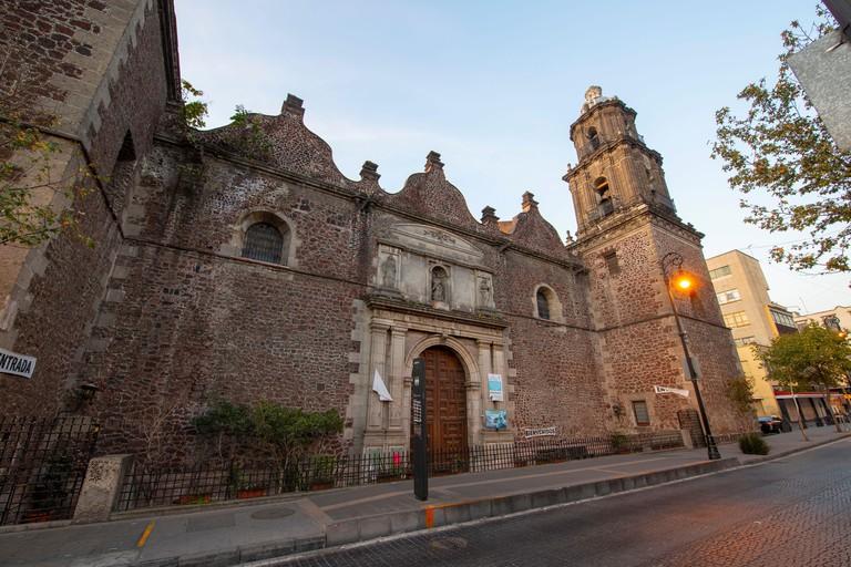 Iglesia de Jesus Nazareno aka Parroquia de Jesus Nazareno e Inmaculada Concepcion at Historic center of Mexico City CDMX, Mexico