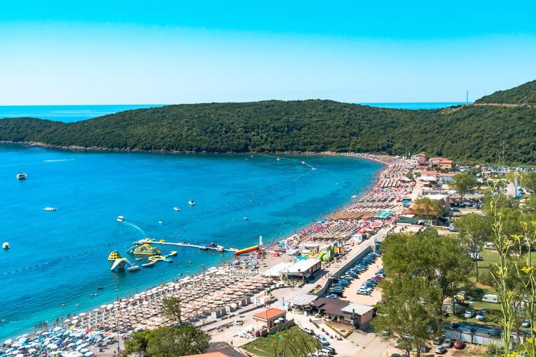Jaz Beach in Budva, Montenegro
