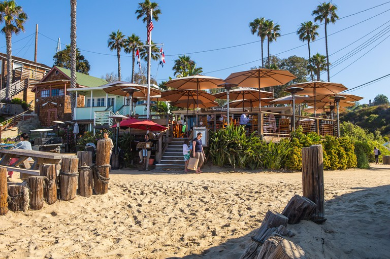 The Beachcomber Restaurant at Crystal Cove State Park California USA