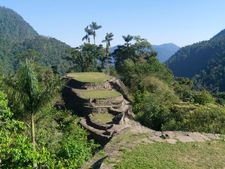 The terraces of the Lost City, Sierra Nevada, Santa Marta, Colombia