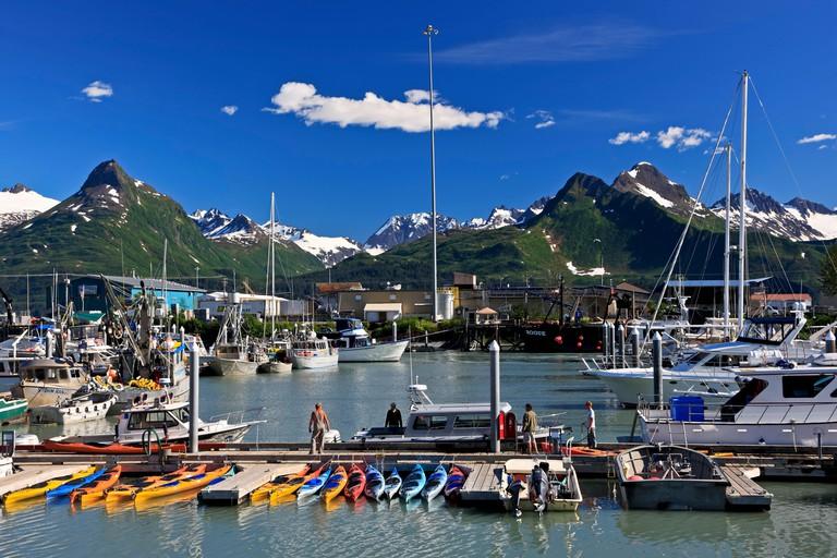 North America, the USA, Alaska, Valdez, harbour,