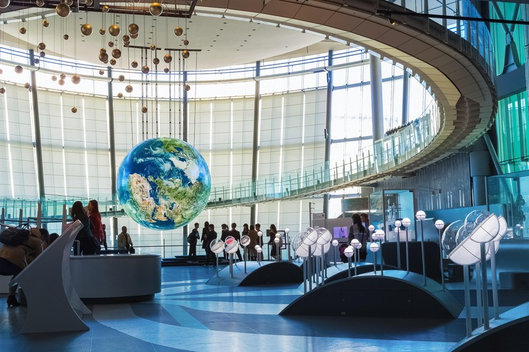 """The National Museum of Emerging Science and Innovation """"Miraikan"""" in Odaiba, Tokyo, Japan"""