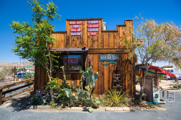 General store in the town of Joshua Tree California USA