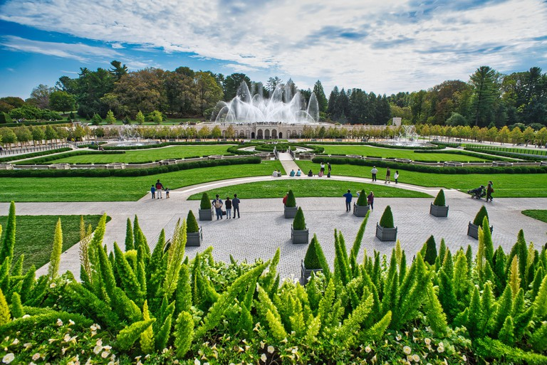 Longwood Gardens is an American botanical garden. It consists of over 1,077 acres of gardens, woodlands, and meadows in Kennett Square, Pennsylvania,