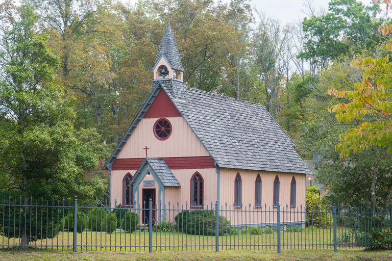 Historic church founded 1888 in historic Victorian village of Rugby Tennessee by Thomas Hughes KHFF12