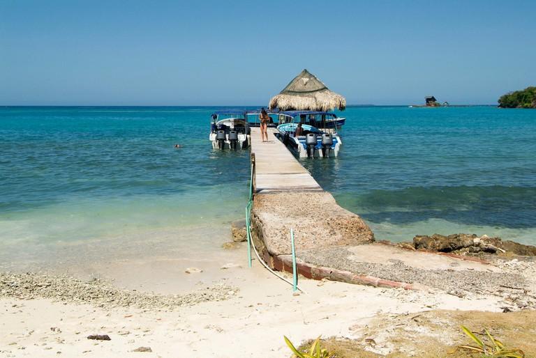 Caribbean Sea near Cartagena, Colombia.