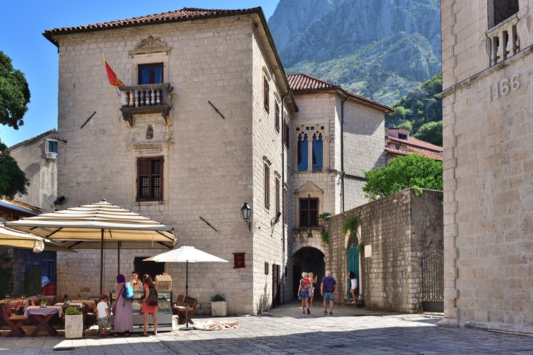 Kotor, Montenegro - June 10. 2019. A fragment of historical part - Old Town. 2A8PAN4