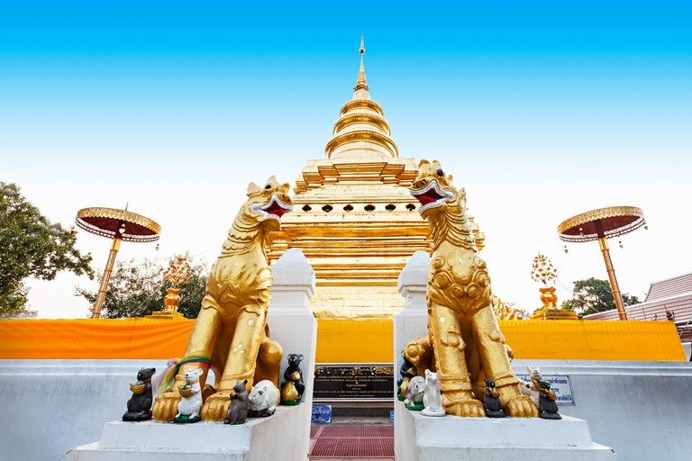 Wat Phra That Si Chom Thong Worawihan is buddhist temple located in Chiang Mai Province, Thailand
