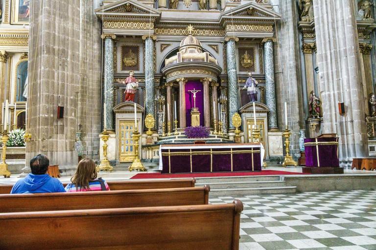 Mexico Mexico City Ciudad de Federal District Distrito DF D.F. CDMX Centro historico historic Center Centre Templo de San Felipe Neri Catholic church 2F5F88X
