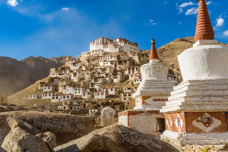 Chemre or Chemrey Village & monastery, nr Leh, Ladakh, India -E649RM