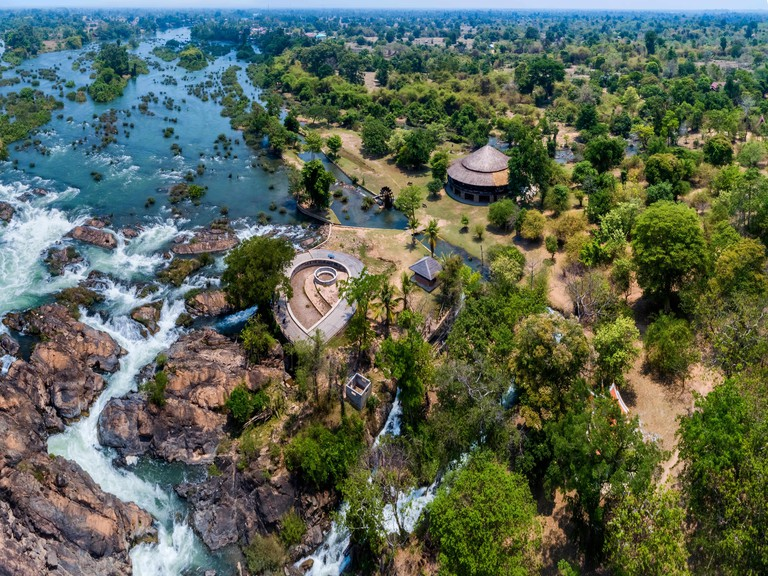 Li Phi waterfall in Laos, Don khone, Si Phan Don