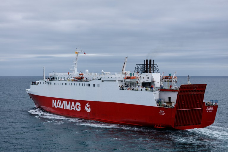 Navimag Ferry on open sea, Chile
